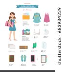 packing a hospital bag.... | Shutterstock .eps vector #683934229
