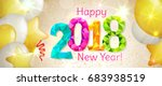 happy new year 2018 greeting... | Shutterstock .eps vector #683938519