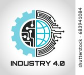 industry 4.0 concept business... | Shutterstock .eps vector #683941084