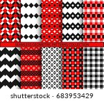 seamless geometric patterns... | Shutterstock .eps vector #683953429