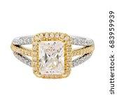 Diamond Ring Isolate On White