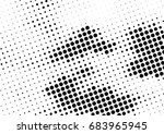 abstract halftone dotted... | Shutterstock .eps vector #683965945