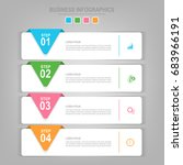 infographics template of four... | Shutterstock .eps vector #683966191