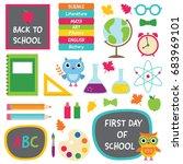 back to school vector design... | Shutterstock .eps vector #683969101