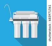 reverse osmosis system. water... | Shutterstock .eps vector #683971561