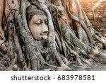 Ayutthaya Buddha Head Statue...