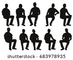 vector  isolated  silhouette... | Shutterstock .eps vector #683978935