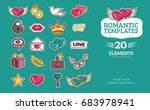 love and wedding patch badges... | Shutterstock .eps vector #683978941