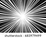 abstract radial black line... | Shutterstock .eps vector #683979499