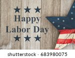 happy labor day greeting  usa... | Shutterstock . vector #683980075