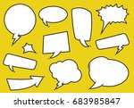 a collection of comic style... | Shutterstock .eps vector #683985847