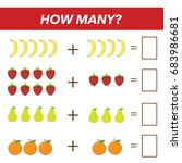 mathematics tasks for preschool ... | Shutterstock .eps vector #683986681