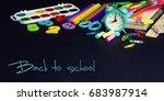 back to school   blackboard... | Shutterstock . vector #683987914