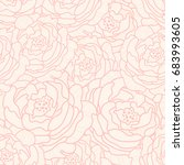 lined peonies seamless pattern. ...