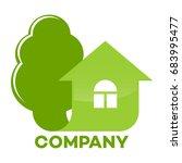 real estate logo   Shutterstock .eps vector #683995477