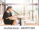 businesswoman working with... | Shutterstock . vector #683997385