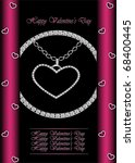 vector valentine's greeting card | Shutterstock .eps vector #68400445