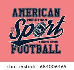 american football illustration... | Shutterstock .eps vector #684006469