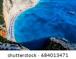 aerial view of the famous beach ... | Shutterstock . vector #684013471