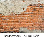 texture of cracked concrete and ... | Shutterstock . vector #684013645