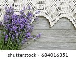 Lavender Flowers With Lace On...