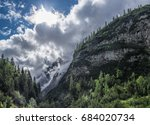 the mountains of alps in... | Shutterstock . vector #684020734