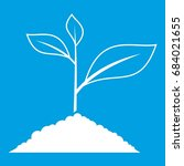 growing plant icon white   Shutterstock .eps vector #684021655