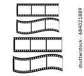 film strip  white background... | Shutterstock .eps vector #684021889