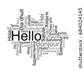 hello tag cloud in different... | Shutterstock .eps vector #684024145