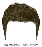 trendy stylish man  hairs brown ... | Shutterstock .eps vector #684024439