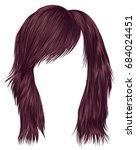 trendy  woman  hairs c opper... | Shutterstock .eps vector #684024451