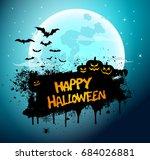 halloween poster  night... | Shutterstock . vector #684026881