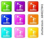 oil pump set 9 | Shutterstock .eps vector #684027841