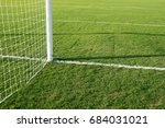 soccer goal and net ball | Shutterstock . vector #684031021