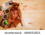roasted duck  gill duck ... | Shutterstock . vector #684031831