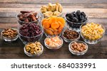 dried fruits and nuts in the... | Shutterstock . vector #684033991