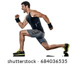 one caucasian fitness man... | Shutterstock . vector #684036535