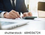 business man working with new... | Shutterstock . vector #684036724