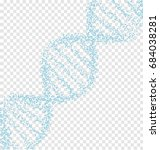 blue dna with polygon line on... | Shutterstock .eps vector #684038281