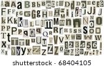 newspaper alphabet with letters ... | Shutterstock . vector #68404105