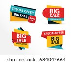 colorful shopping sale banner... | Shutterstock .eps vector #684042664