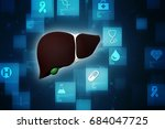 realistic human liver 3d... | Shutterstock . vector #684047725