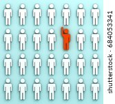 stand out from the crowd and... | Shutterstock . vector #684053341