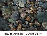colored stones beautiful small... | Shutterstock . vector #684053599