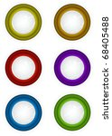 6 round 3d techno reflective... | Shutterstock . vector #68405488