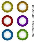 6 round 3d techno reflective... | Shutterstock . vector #68405488