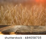 wooden table in the background... | Shutterstock . vector #684058735