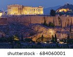 athens greece  parthenon and... | Shutterstock . vector #684060001