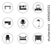 set of 9 editable furnishings...