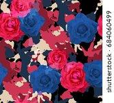 seamless pattern floral design. ... | Shutterstock . vector #684060499